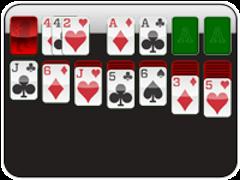 Klondike Solitaire 1 Card 1 Pass